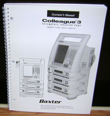 p  n 07 19 d3 724 for sale baxter pump iv infusion parts listing 407009 Owner's Manual Owner's Manual