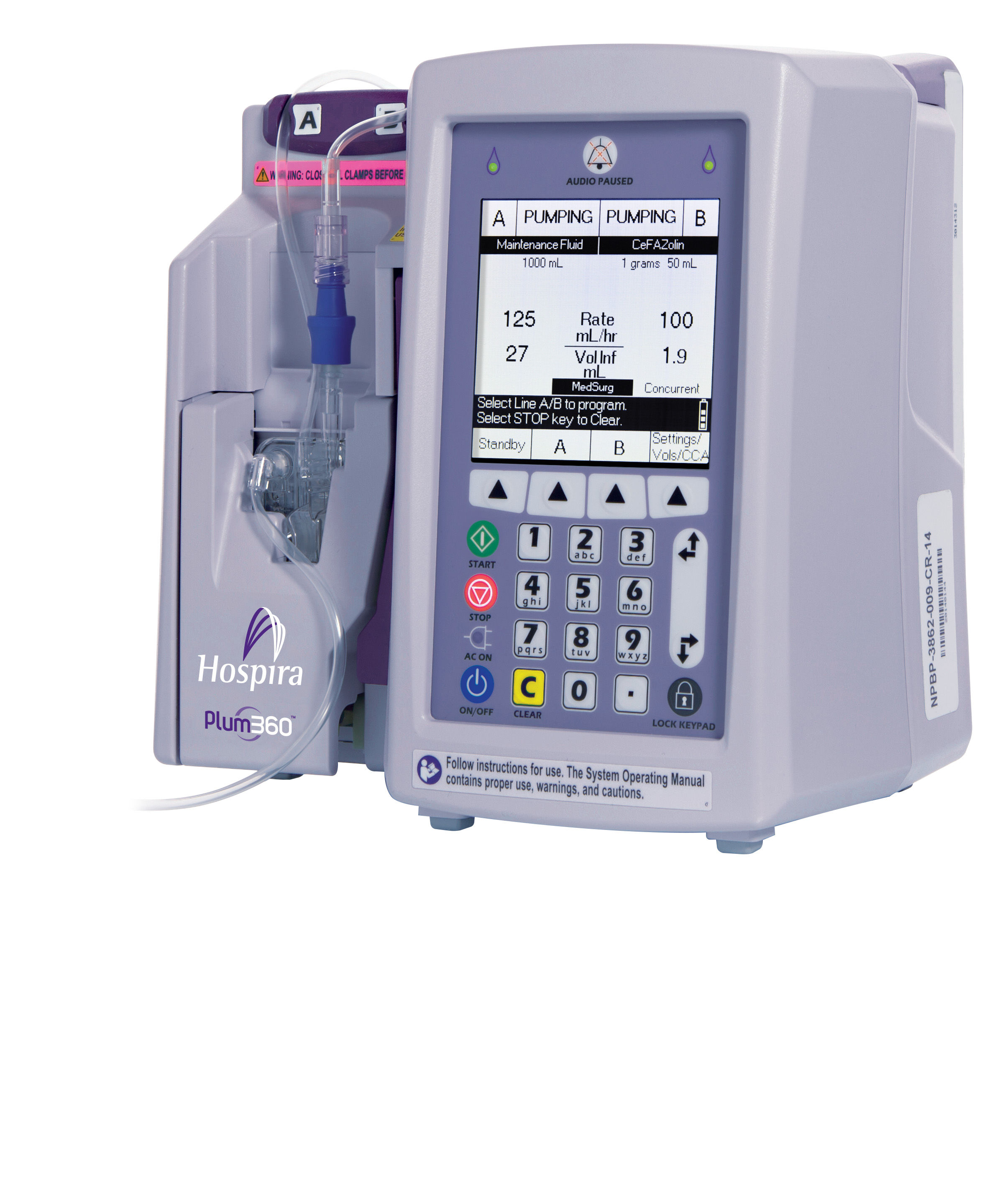 Hospira Plum360 Infusion System Pump Iv Infusion Model