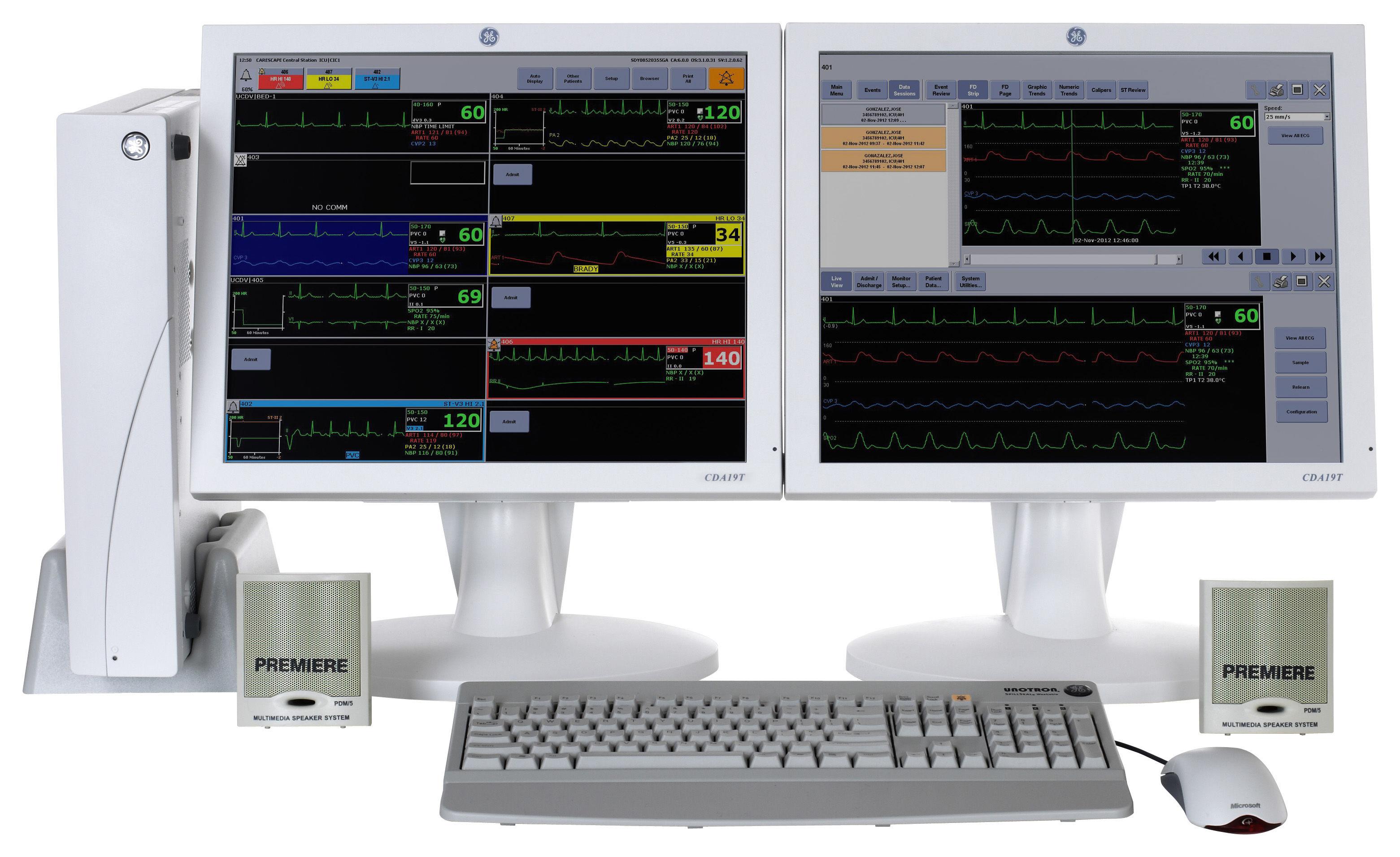 Ge Carescape Central Station Monitor Model Information