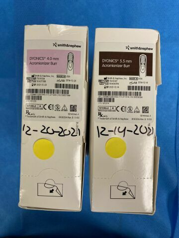 SMITH & NEPHEW Dyonics 4.0mm & 5.5mm  Acromionizer Burrs Scalpels and Blades