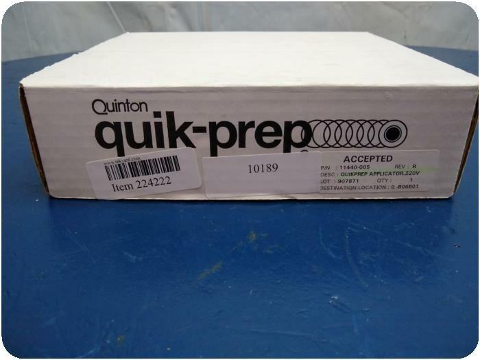 QUINTON Quik-Prep Dx Applicator Electrode Patient Preparation ECG EKG