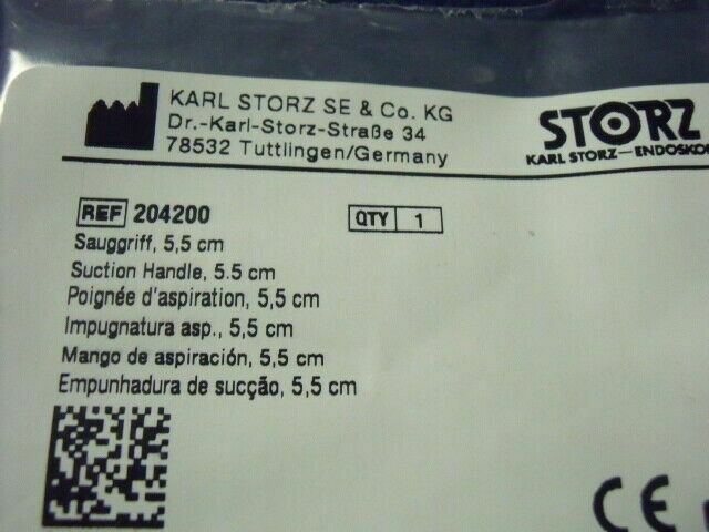 KARL STORZ 204200  NEW SUCTION HANDLE