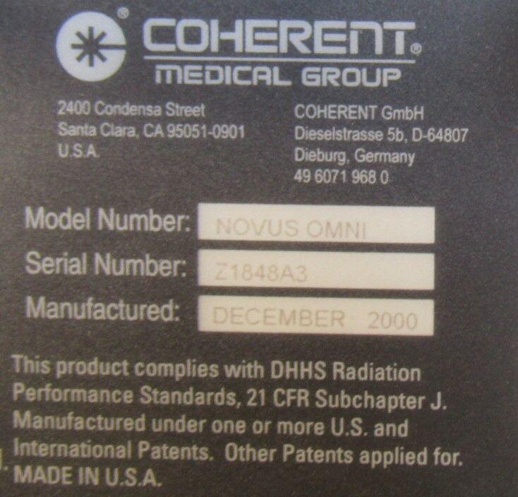 COHERENT Novus Omni Laser - Argon