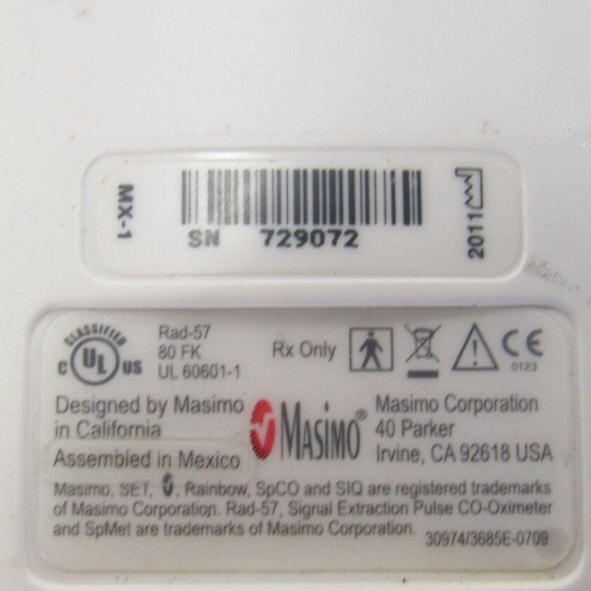 MASIMO RAD-57  - Lot of 4 Oximeter - Pulse