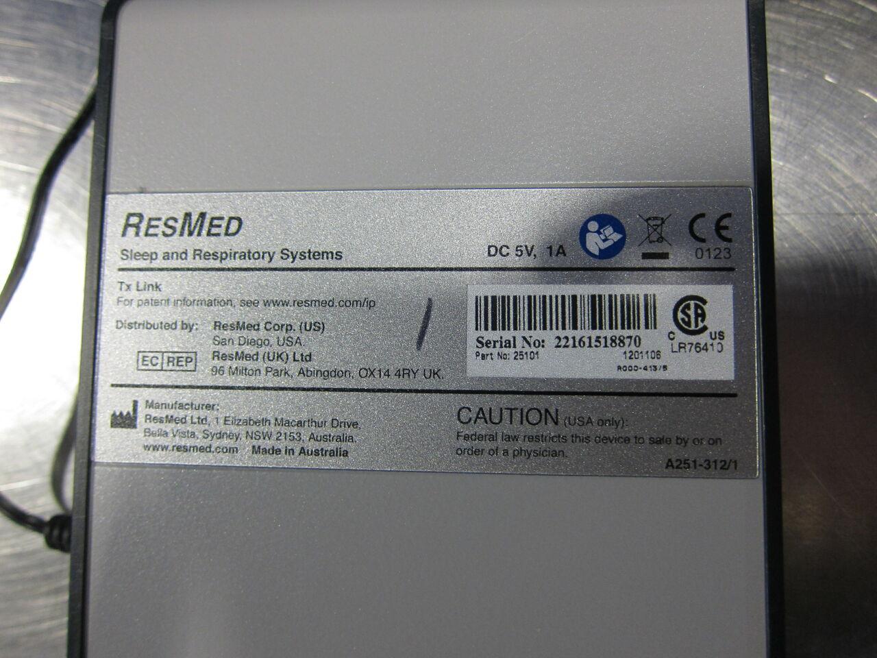 RESMED Tx Link  - Lot of 2 Bi-level PAP