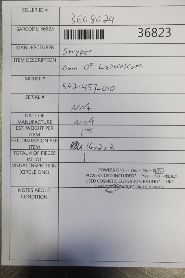 STRYKER 502-457-010 Laparoscope