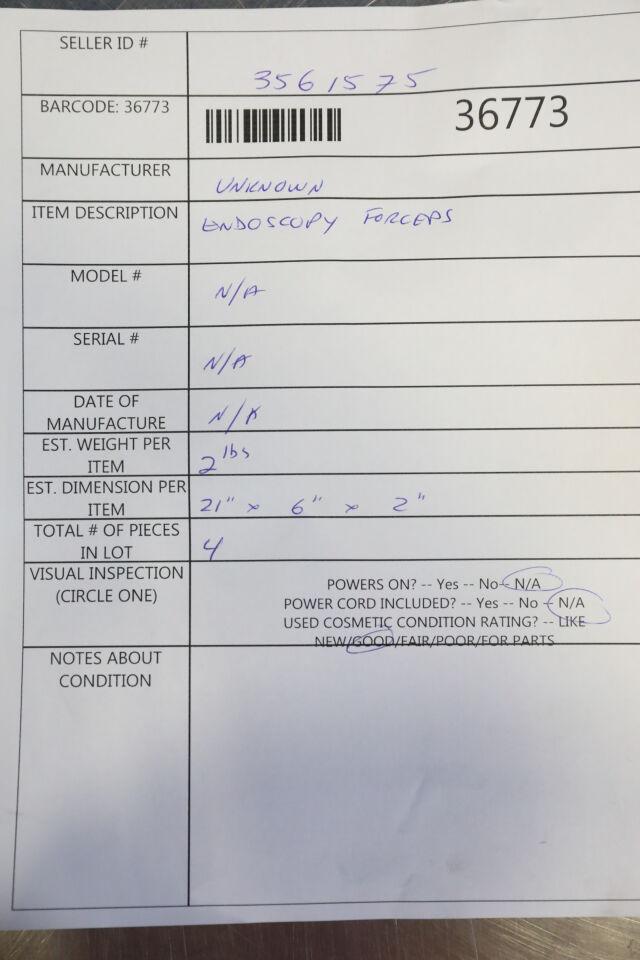 Endoscopy Forceps - Lot of 4