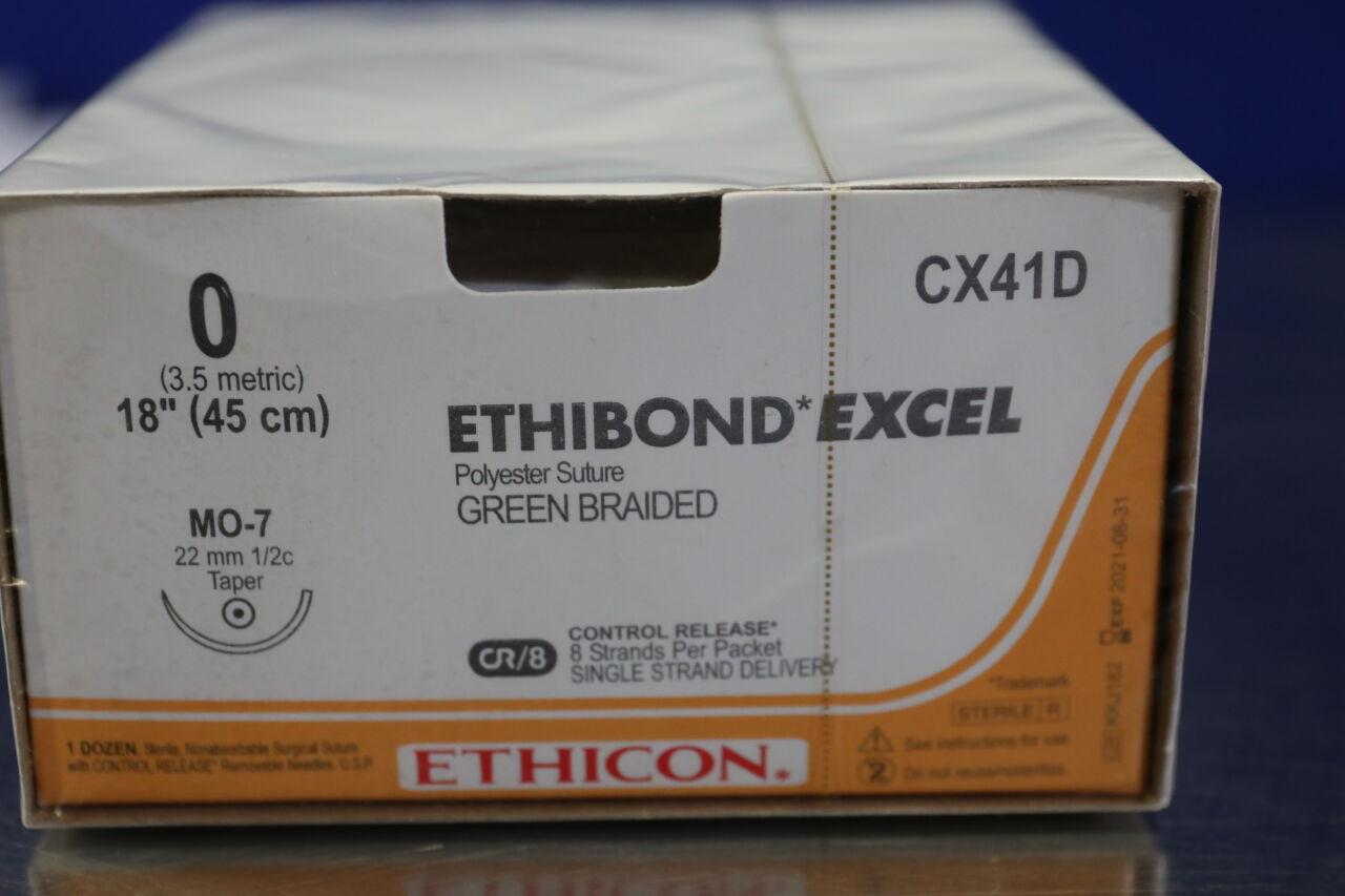 ETHICON EthiBond Excel Green Braided Sutures