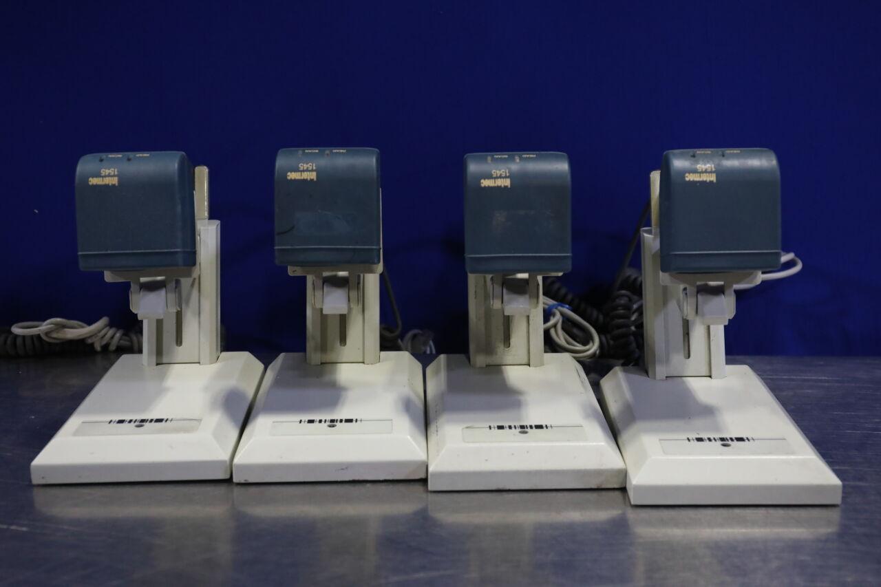 INTERMEC 1545 Handheld Scanner w/ Base - Lot of 4