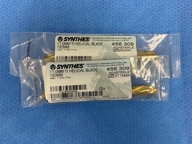 SYNTHES 11.0mm TI Helical Blade 120mm