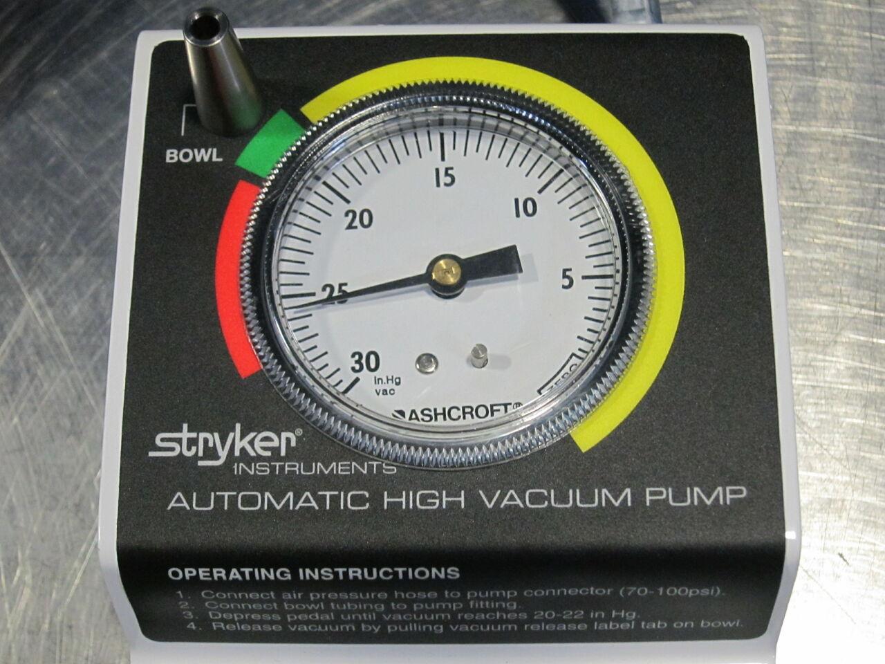 STRYKER 206-500 Vacuum Pump