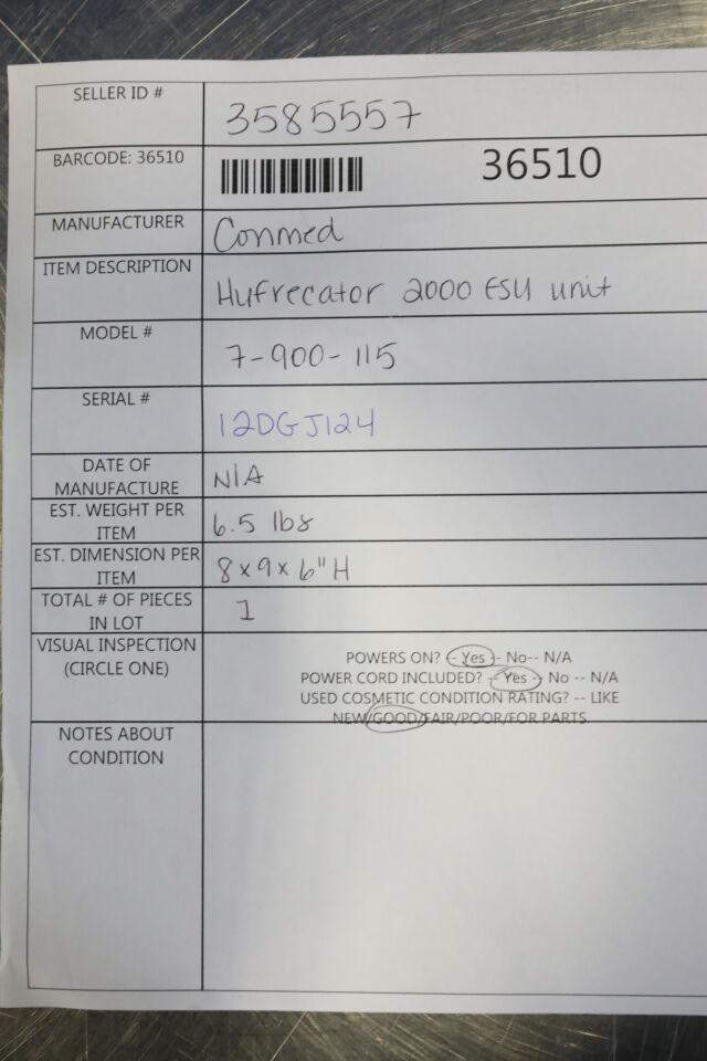 CONMED Hyfrecator 2000 Hyfrecator