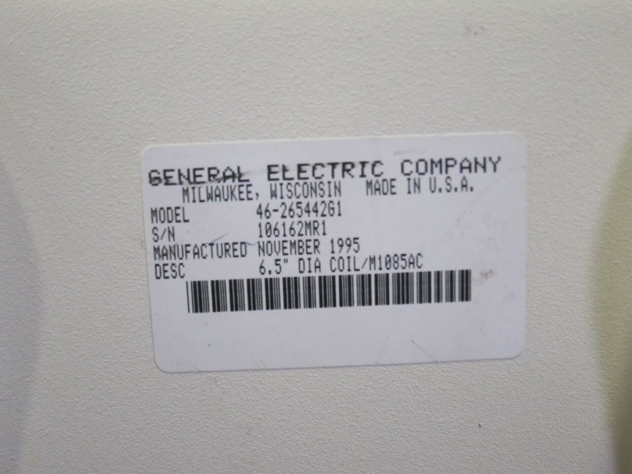 GE Signa 1.5 T Extremity / Linear Head MRI Coil