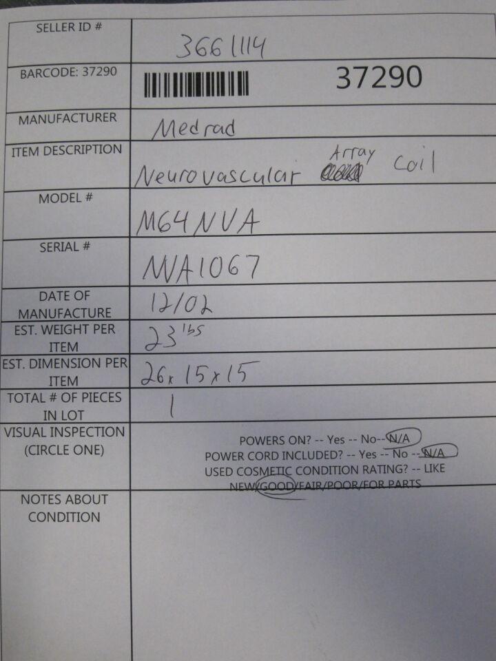 MEDRAD Neurovascular Array MRI Coil