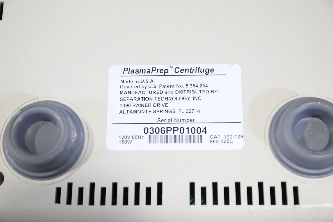 STI PlasmaPrep Centrifuge