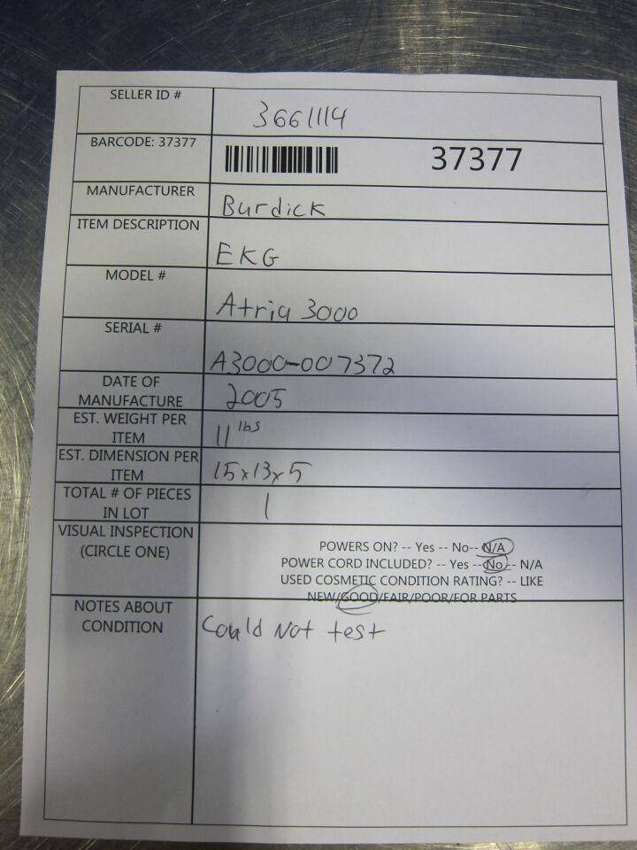 BURDICK Atria 3000 EKG