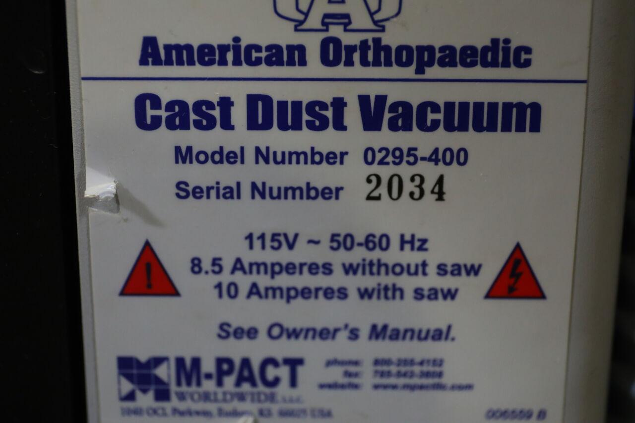AMERICAN ORTHOPEDIC 0295-200 Cast Dust Vacuum and Saw