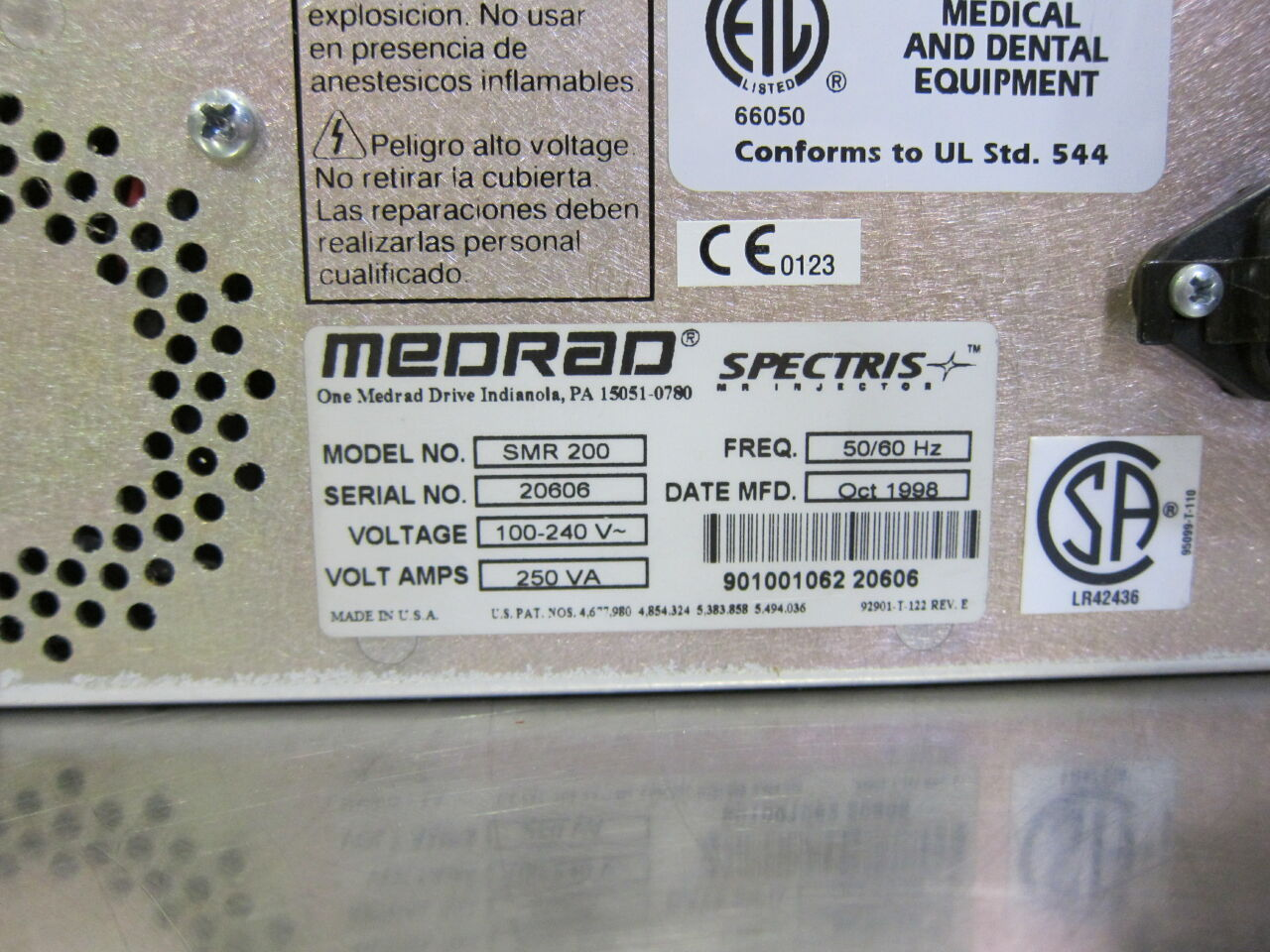 MEDRAD Spectris Injector MRI