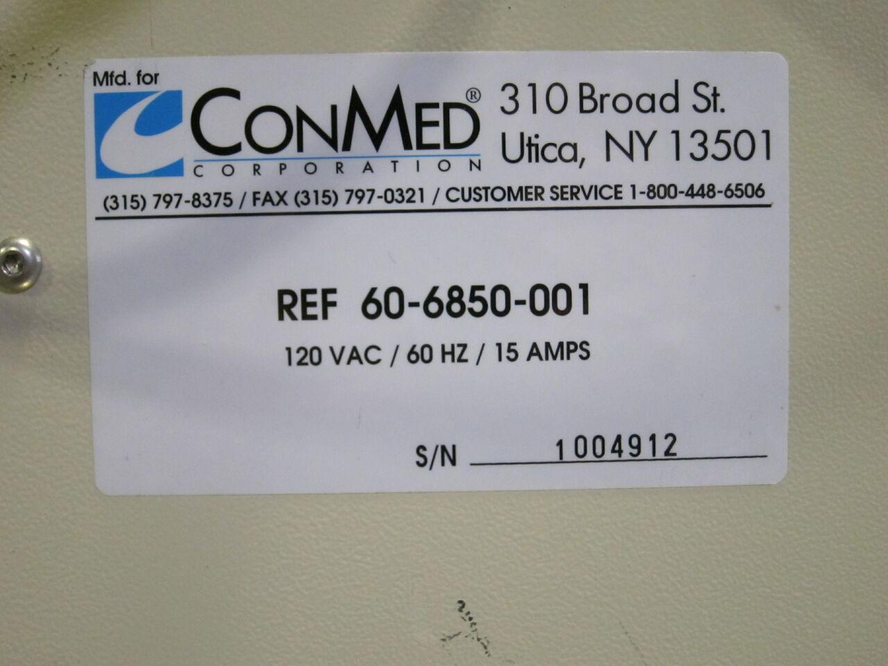 CONMED 60-6850-001 Smoke Evacuator
