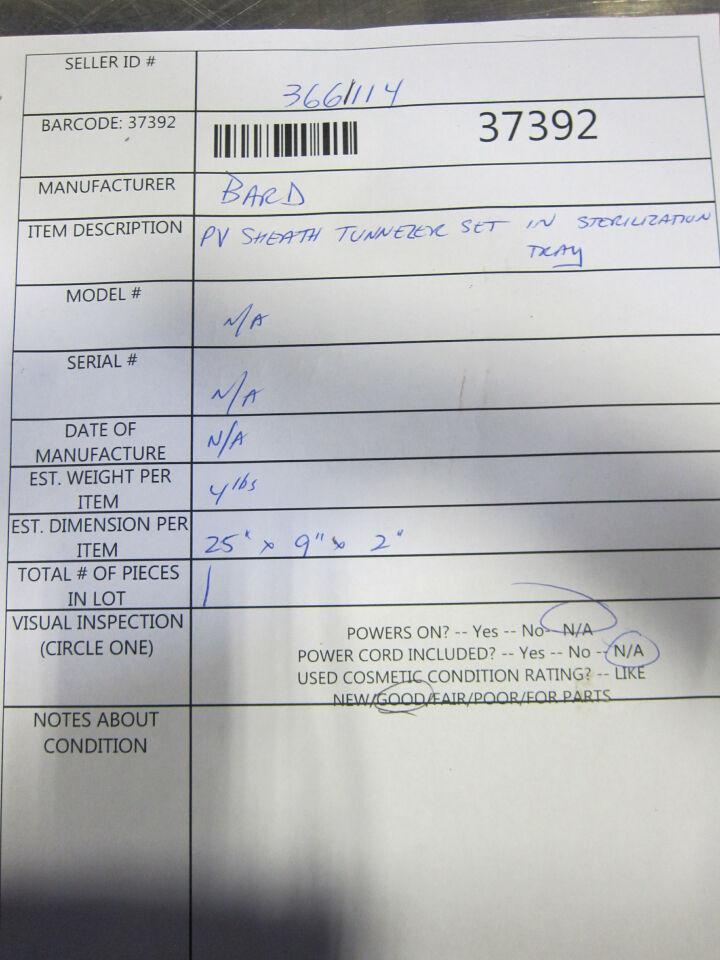 BARD  PV Sheath Tunnler Set
