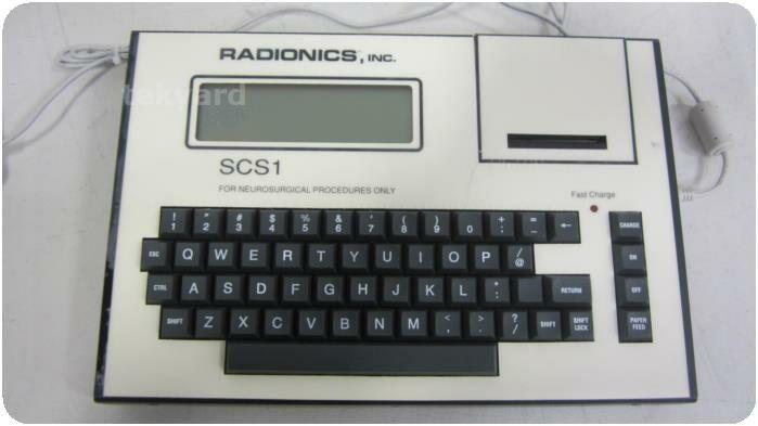 RADIONICS 1-1900 SCS1 Neurological Computer Electroconvulsive Therapy Unit