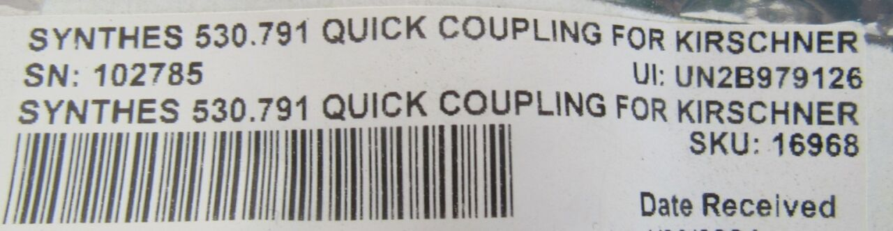 SYNTHES 530.791  - Lot of 4 Quick Couipling for Kirschner Wires