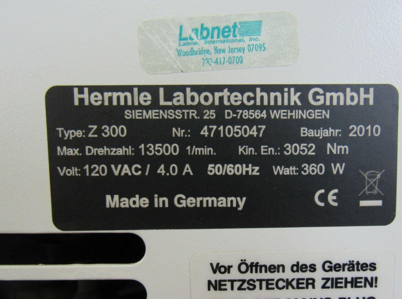 HERMLE Z300  Centrifuge