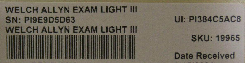 WELCH ALLYN  III Exam Light