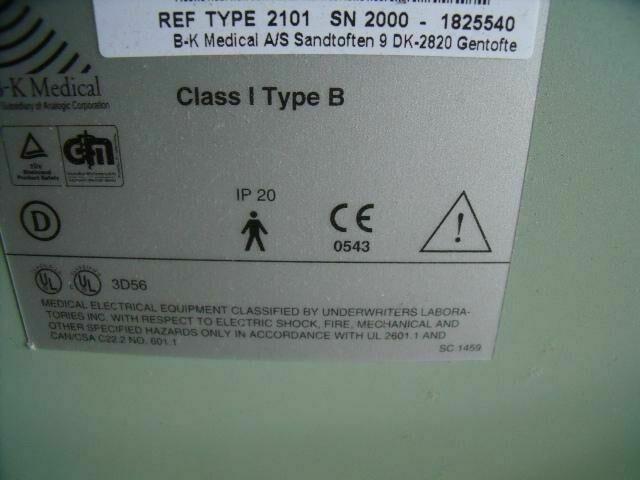 B AND K MEDICAL 2101  ULTRASOUND MACHINE