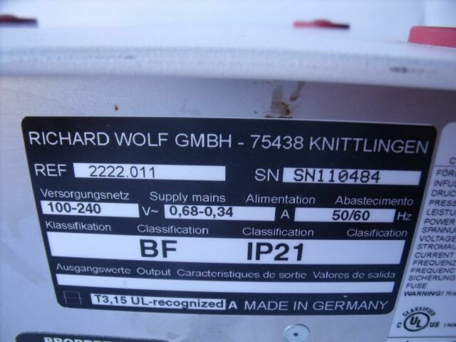 RICHARD WOLF 2222  HYSTERO PUMP II