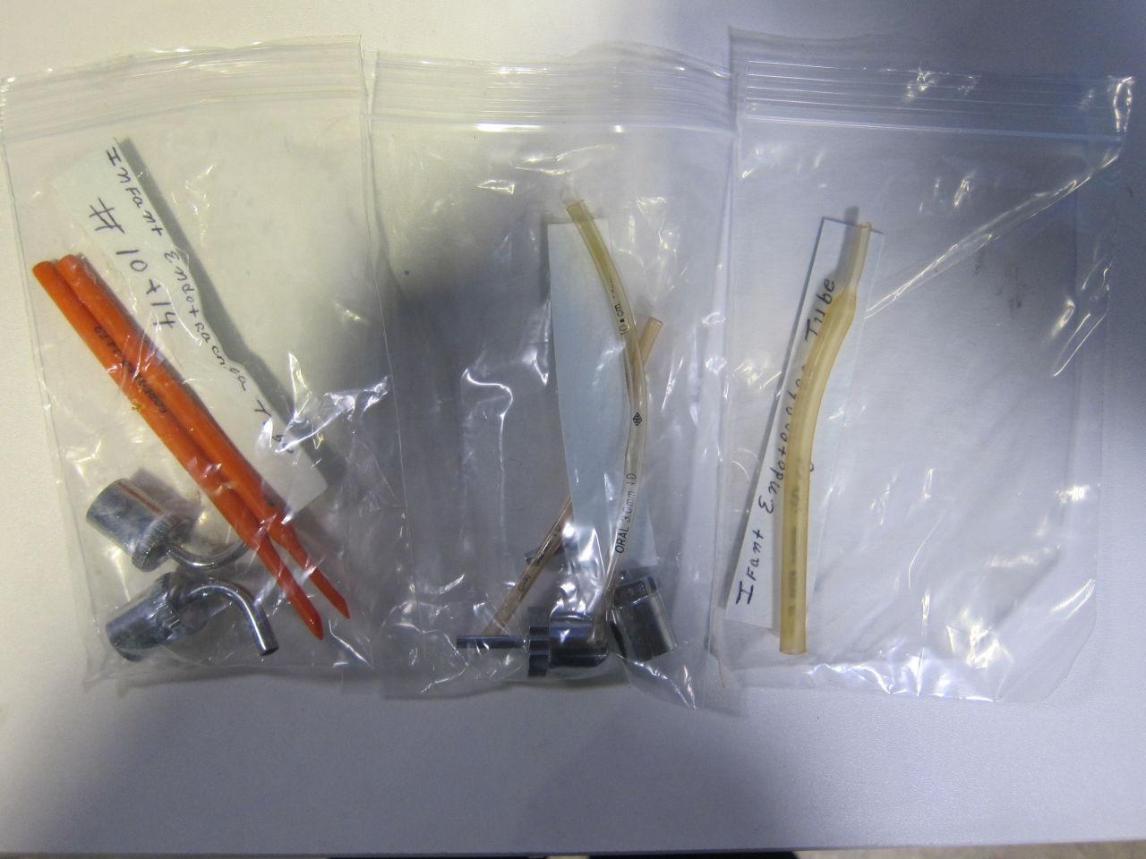 Infant Endotrachea Tube - Lot of 3