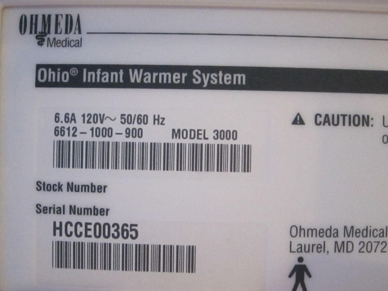 OHMEDA Ohio 3000 Infant Warmer