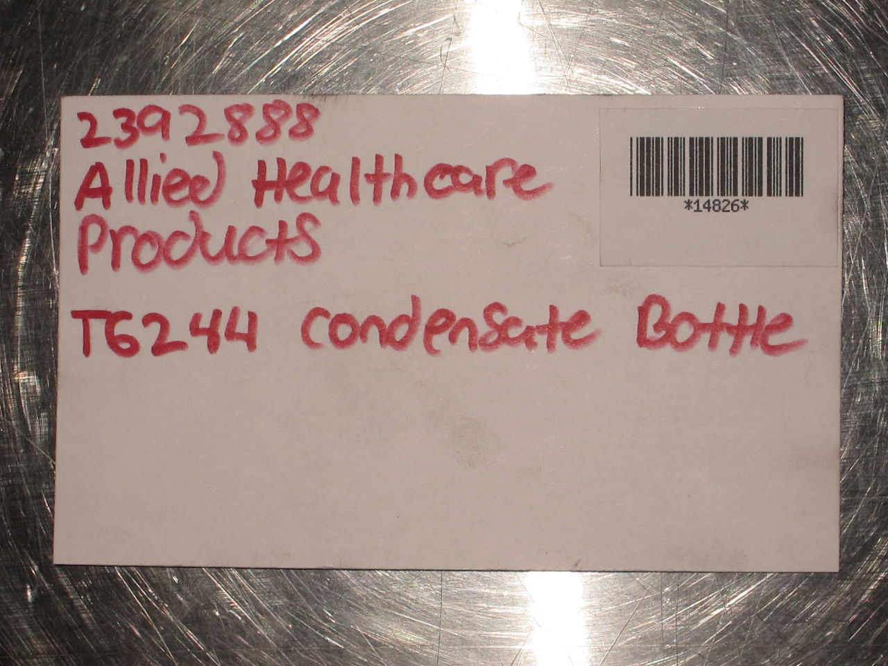 ALLIED HEALTHCARE T6244 Condensate Bottle