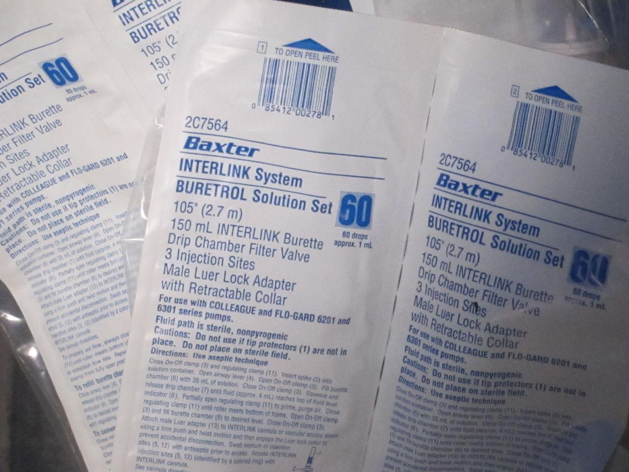 BAXTER Interlink Solution Set - Lot of 6