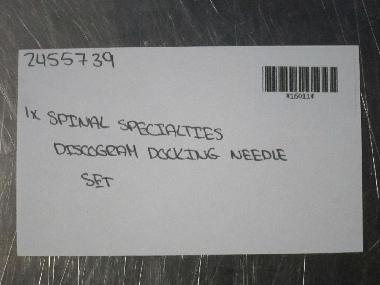 SPINAL SPECIALTIES Discogram Needle Set