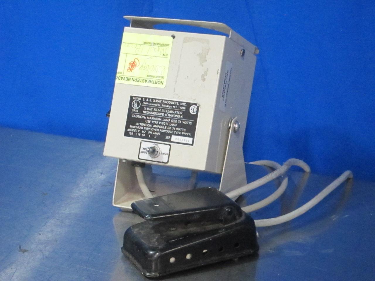 S&S X-RAY PRODUCTS 188 Film Illuminator