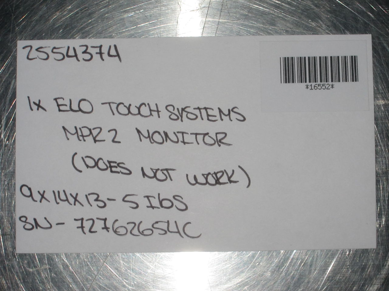 ELO TOUCH SYSTEMS MPR 2 Display Monitor