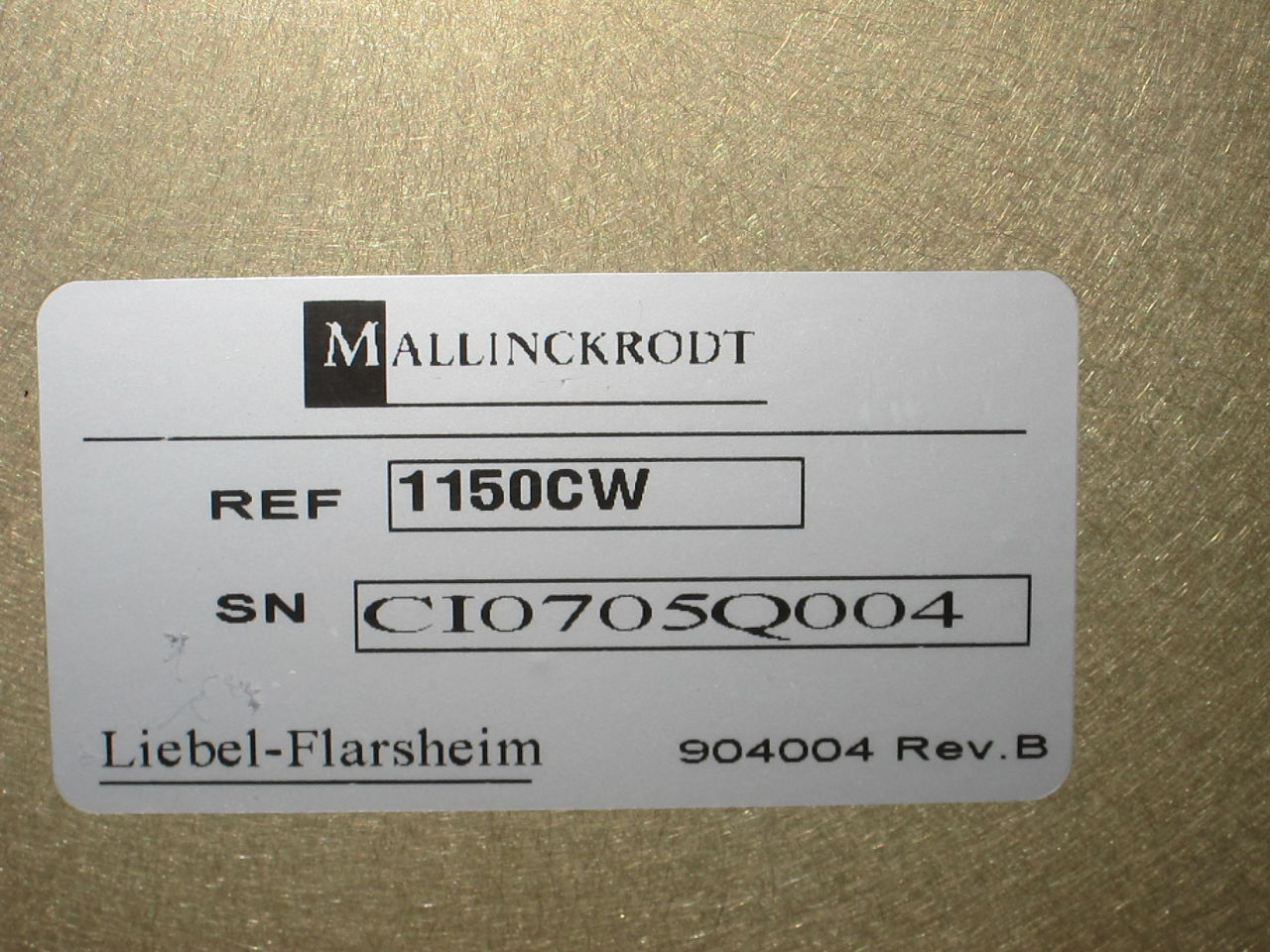 LIEBEL-FLARSHEIM Mallinckrodt Blanket / Solution Warmer