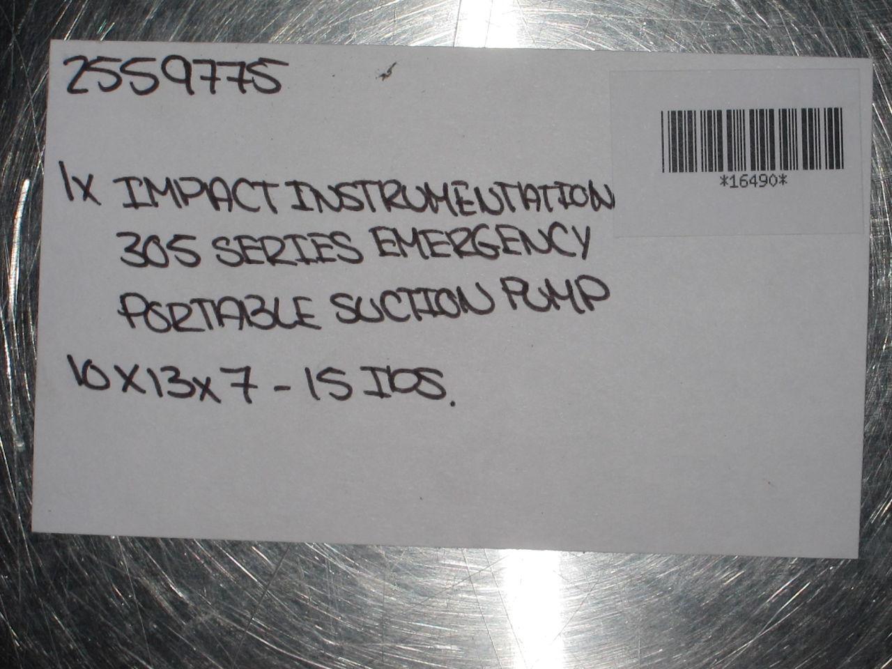 IMPACT INSTRUMENTATION 305 Series Aspirator