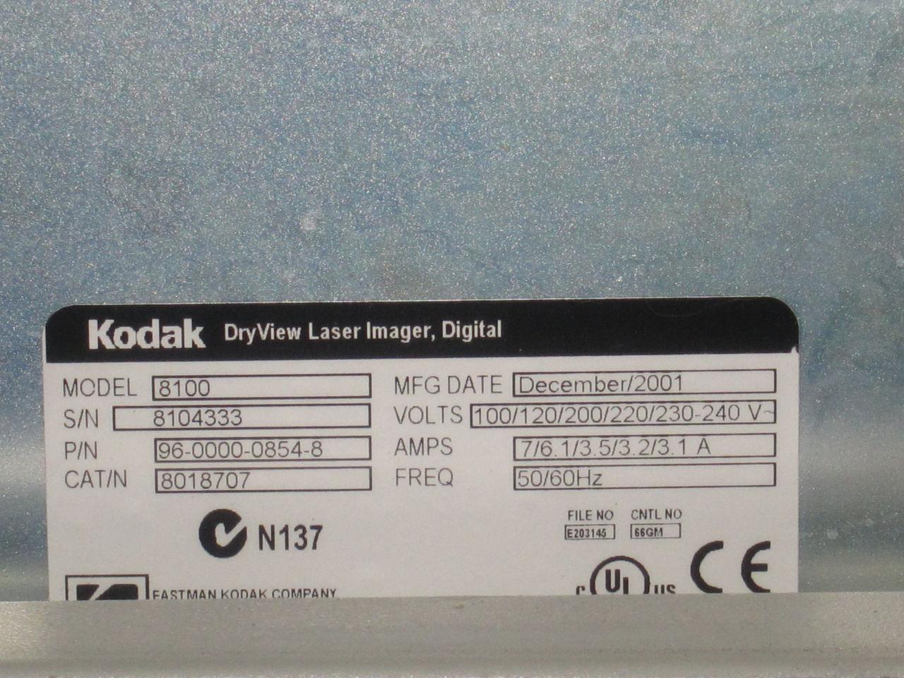 KODAK Dryview 8100 Dry Camera