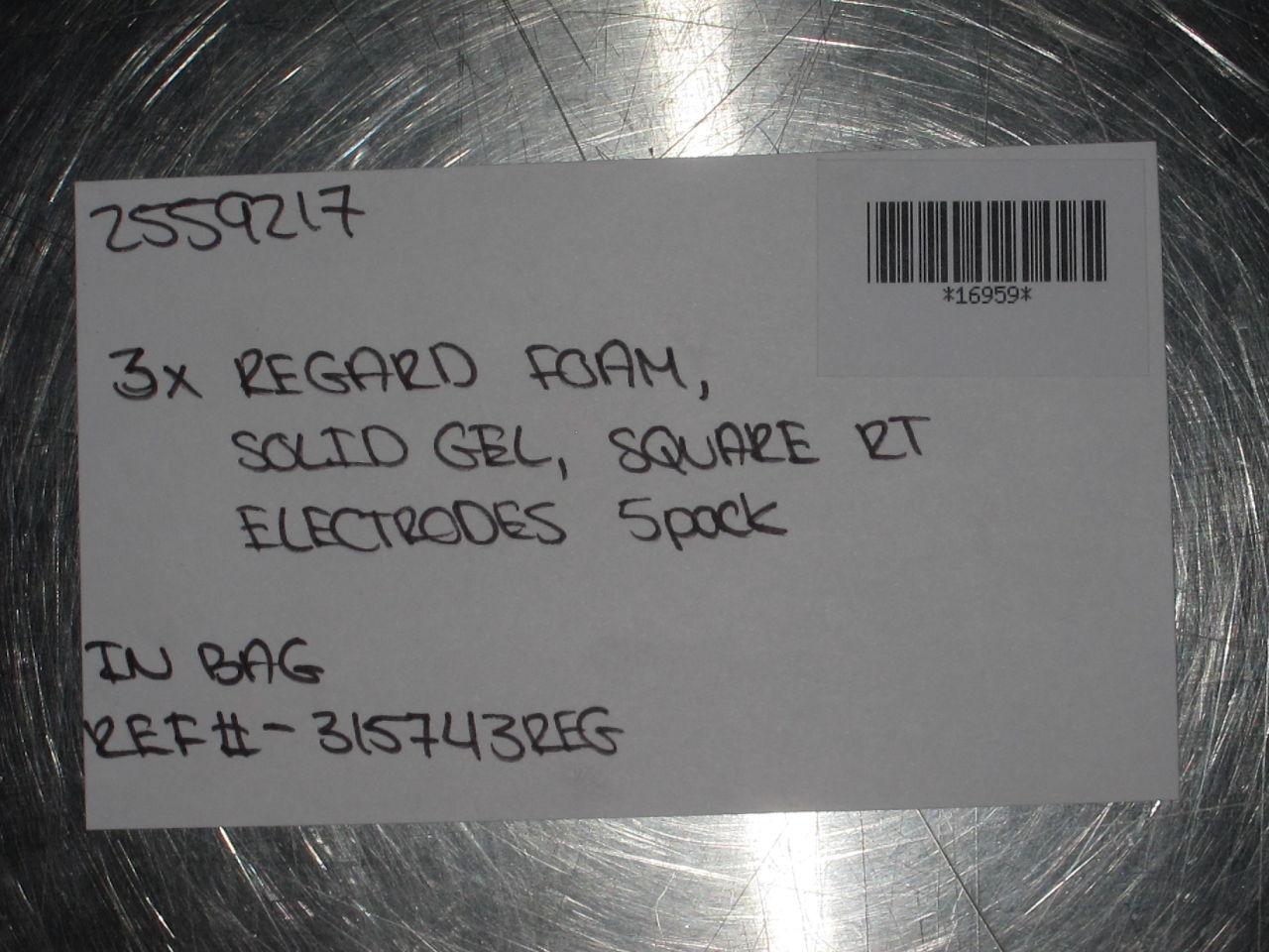 REGARD  Solid Gel Electrodes - Lot of 3