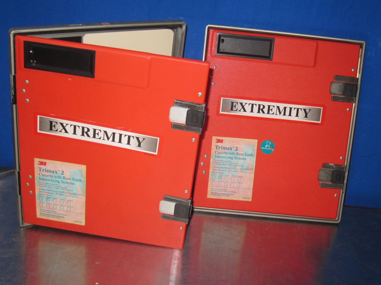 3M Trimax 2 w/ Rare Earth Intensifying Screens  - Lot of 2 Cassettes