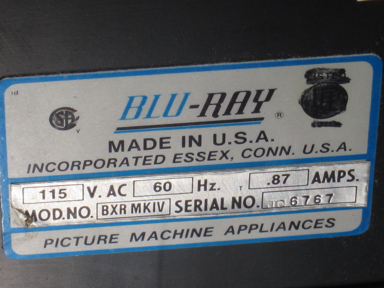 BLUE-RAY BXR Mark IV