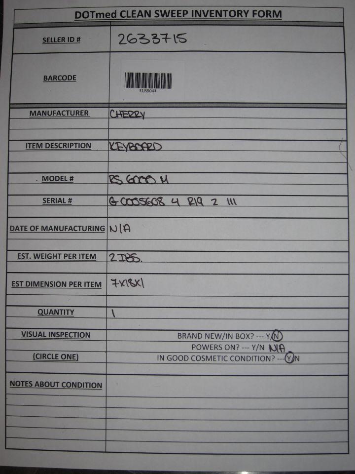 CHERRY RS 6000 M Keyboard
