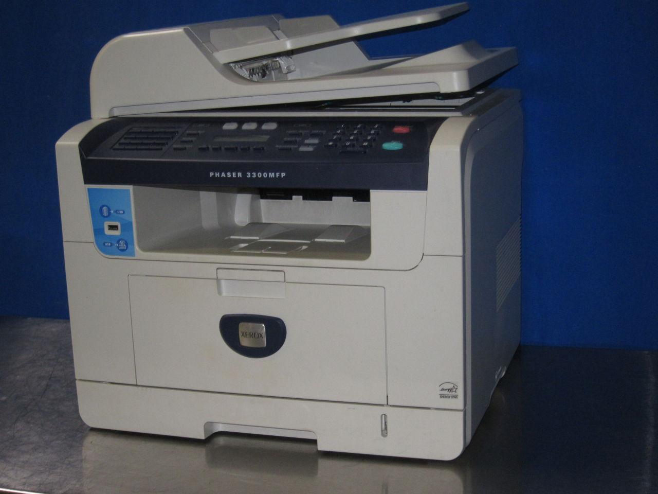 XEROX Phaser 3300MFP w/ Broken Scanner Glass Printer