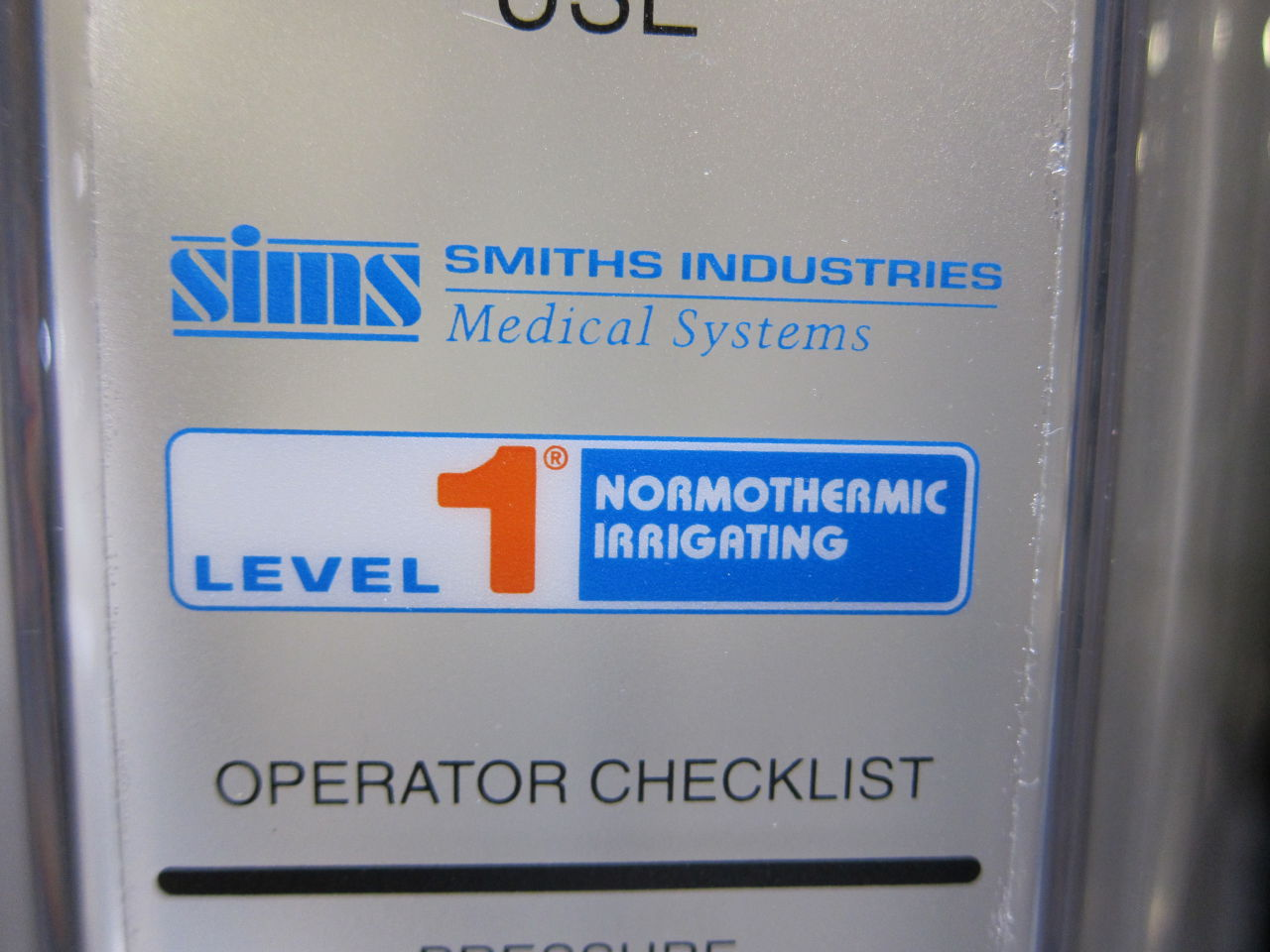 SIMS Hi-2 Level 1 Normothermic Irrigating Pressure Chamber IV/Infusion Set