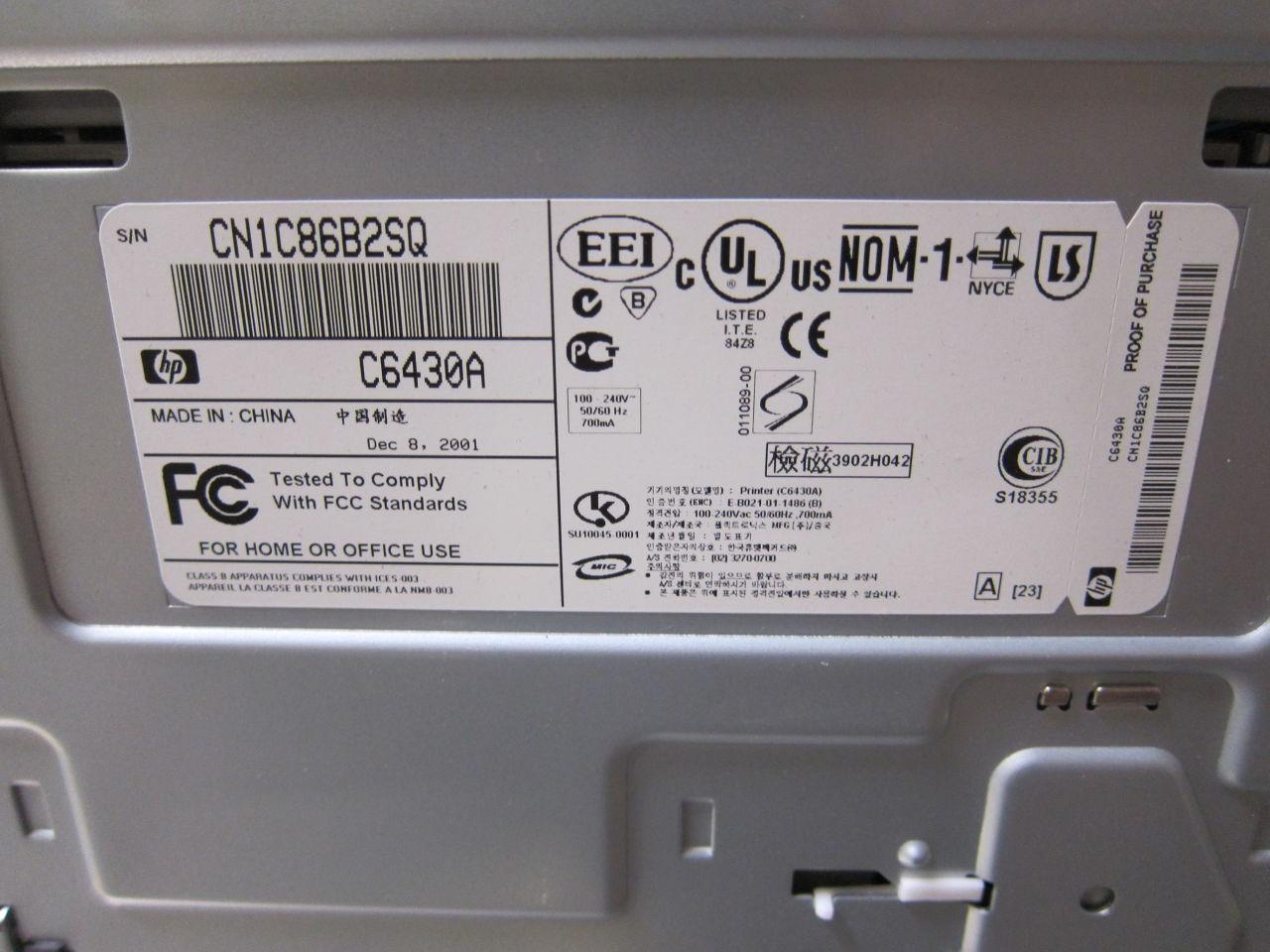 HP DeskJet 920C Printer