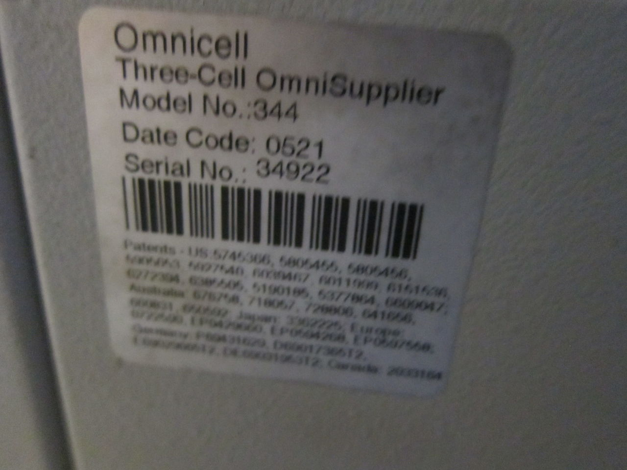 OMNICELL 344 PC Box FO Color Touch