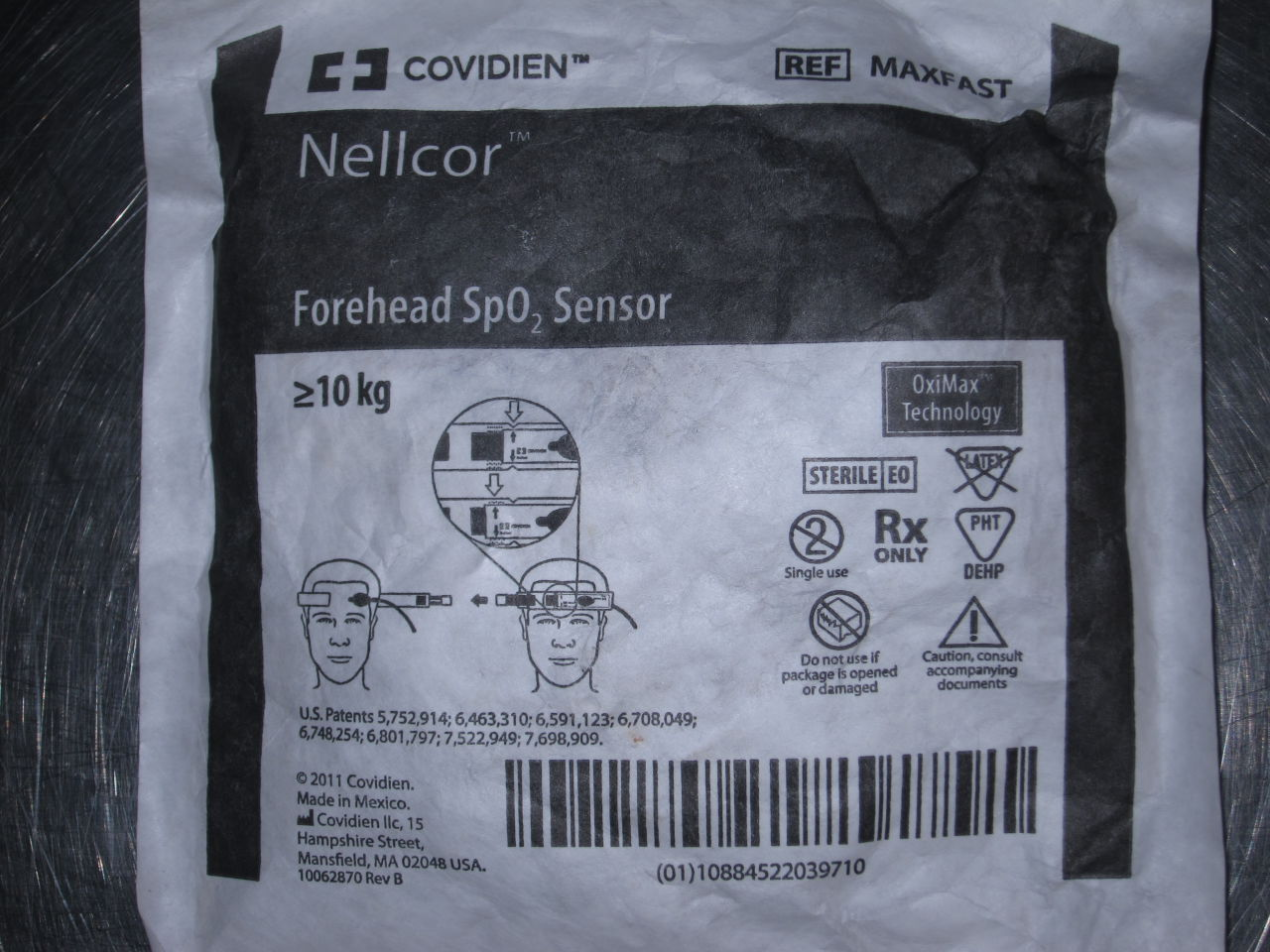 COVIDIEN NELLCOR Forehead SPO2 Probe