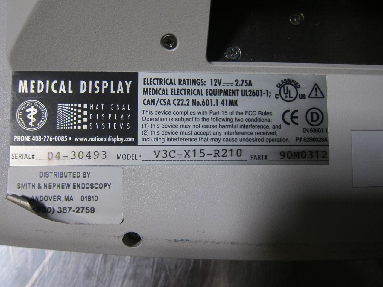 NATIONAL DISPLAY V3C-X15-R210 Display Monitor